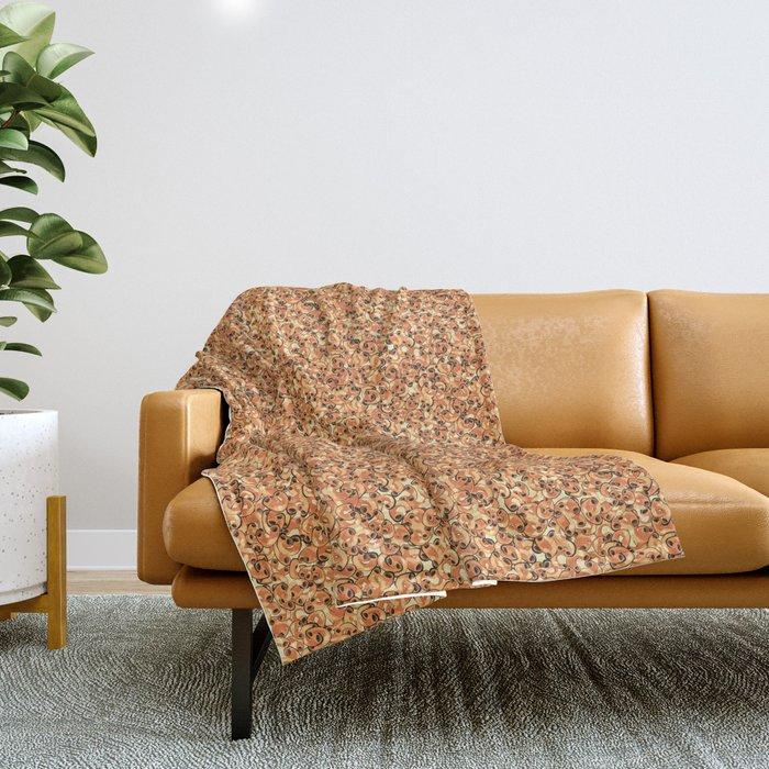 Mac & Cheese Pattern Throw Blanket