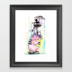 Graceful Elephant Framed Art Print