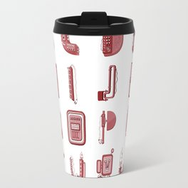 MACHINE LETTERS - red color Travel Mug