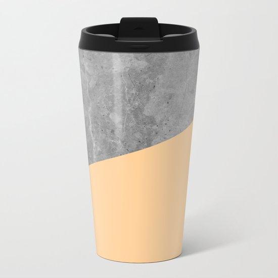 Geometry 101 Orange Sherbet Metal Travel Mug