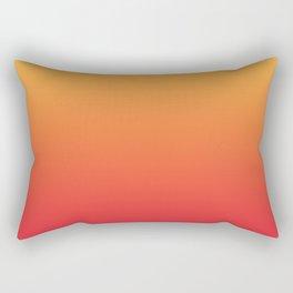 Summer Pattern Ombre Yellow Orange Red Gradient Texture Rectangular Pillow