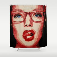 office Shower Curtains featuring Office style by AsyaCreativeArt