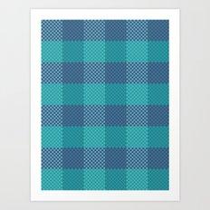 Pixel Plaid - Ice Sheet Art Print