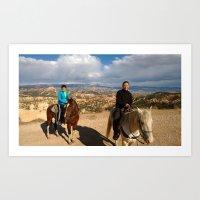 Horse riding at Bryce Canyon Art Print