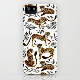 Cheetah Collection – Mocha & Black Palette iPhone Case