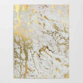 Gold marble Poster
