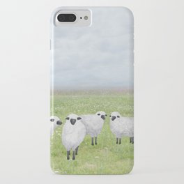 sheep and queen anne's lace iPhone Case
