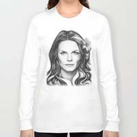 house md Long Sleeve T-shirts featuring Dr. Cameron-House MD-Jennifer Morrison-Portrait by Olechka