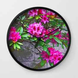 Rhododendrons Wall Clock