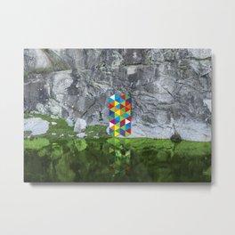 Pixel contamination Metal Print