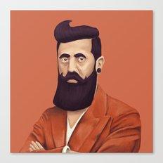 The Israeli Hipster leaders - Binyamin Ze'ev Herzl Canvas Print