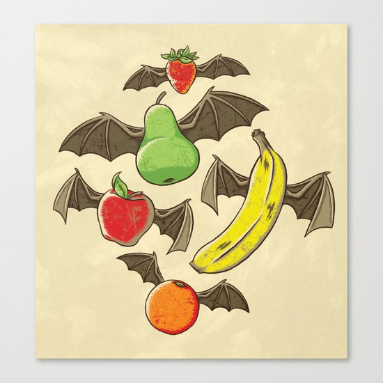 Fruit Bats Canvas Print