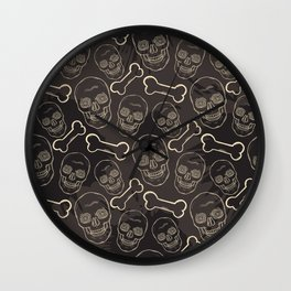 Evil skull Wall Clock