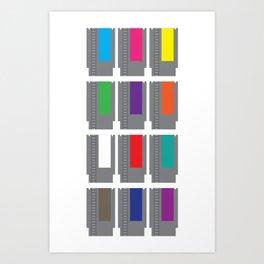 8-BIT Cartridges Art Print