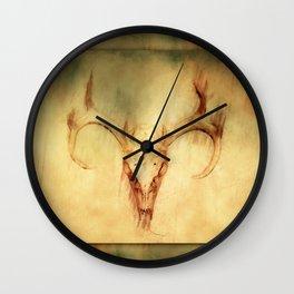 Eight Point Whitetail Deer Skull Wall Clock