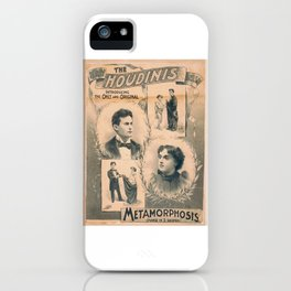 Houdini, Metamorphosis, vintage poster iPhone Case