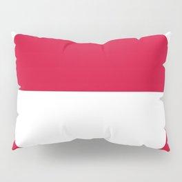 Flag of greenland 2-greenlandic,kalallit,inuit,thule,nuuk,tupilak. Pillow Sham