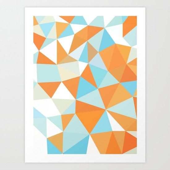 Goldfish Tris Art Print