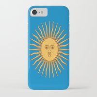 argentina iPhone & iPod Cases featuring argentina flag sun by ArtSchool