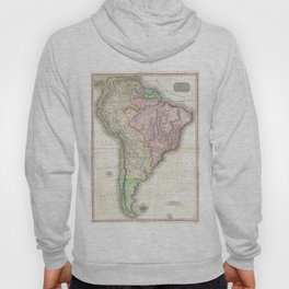 Vintage Map of South America (1818) Hoody