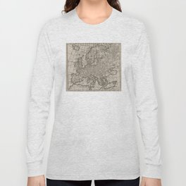 Vintage Map of Europe (1701) Long Sleeve T-shirt