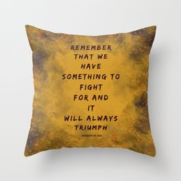 Remember the Ash Throw Pillow