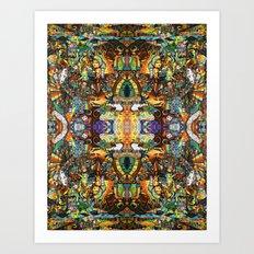 BBQSHOES™: Ebent-D Psychedelic Art Art Print