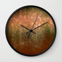 Autumn Dreams Abstract Wall Clock