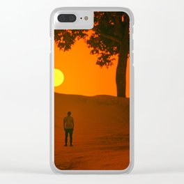 THE LAST SUNSET Clear iPhone Case