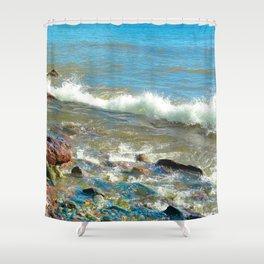 Rocky Shore 3 Shower Curtain