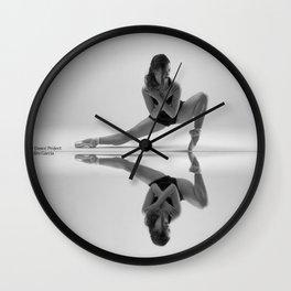 Dancing in the mirror Wall Clock