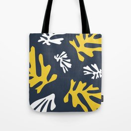 Matisse White & Gold Leaves Tote Bag