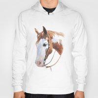 western Hoodies featuring Western Horse by Natalia Elina