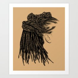 Crown: Wrapped Locs Art Print