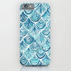 NAVY LIKE A MERMAID Fish Scales Watercolor Slim Case iPhone 6s