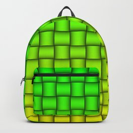 Weave Pattern - Green/Yellow Backpack