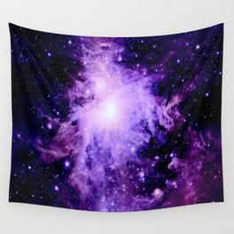 Orion nebUla. : Purple Galaxy Wall Tapestry