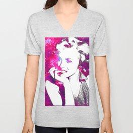 Pink Marilyn Unisex V-Neck