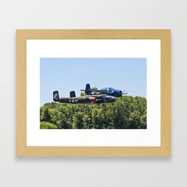 B-24 and Hellcat World War II Aircraft Fly Together at Mosby Missouri Framed Art Print