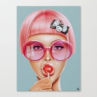 hot Canvas Prints featuring Cool Redux by Giulio Rossi