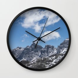 Mountain Clouds // Landscape Photography Wall Clock