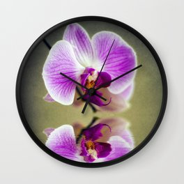 Orchid Reflections Wall Clock