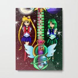 Fusion Sailor Moon Guitar #7 - Sailor Moon & Sailor Neptune Metal Print