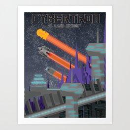Cybertron Travel Poster Art Print
