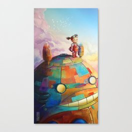 MEI and TOTORO Canvas Print