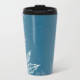 Holly tree snowflake Travel Mug