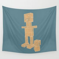 robot Wall Tapestries featuring Robot by lightsome