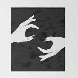 Hand-Drawn Hand Drawing Throw Blanket