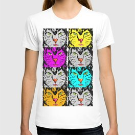 cat faces,visages de chat T-shirt