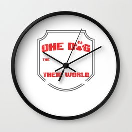 Saving One Dog Animal Care Dog Lovers Rescue Dog Pet Owners Veterinary Gifts Wall Clock